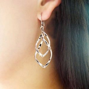 .925 Floating Intertwined Sculptures Drop Earrings